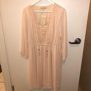 Cream/light blush colored dress, NWT